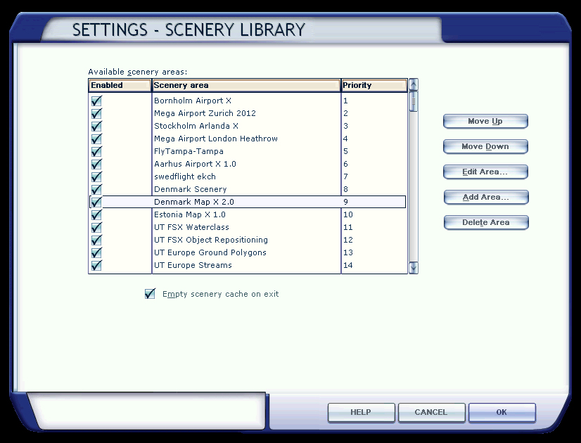 Scenery Library in FSX